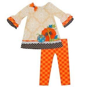 NWOT Rare Editions Pumpkin Outfit Set